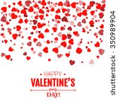 valentine's day card. falling... | Shutterstock .eps vector #350989904
