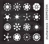 set of vector round design... | Shutterstock .eps vector #350992544
