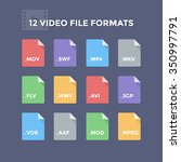 video file formats. movie and... | Shutterstock .eps vector #350997791
