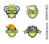tennis logo set championship... | Shutterstock .eps vector #350997821