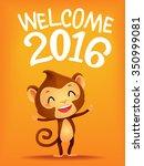 vector illustration of monkey... | Shutterstock .eps vector #350999081