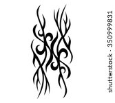 tribal tattoo vector design... | Shutterstock .eps vector #350999831