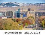 close up of downtown boise with ... | Shutterstock . vector #351001115