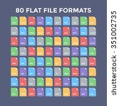 flat file format icons. audio ...