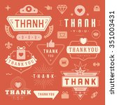 thank you labels and badges... | Shutterstock .eps vector #351003431
