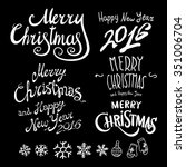 vintage merry christmas and... | Shutterstock . vector #351006704