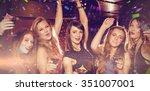 flying colours against pretty... | Shutterstock . vector #351007001