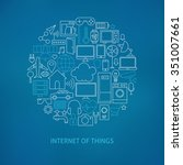 thin line internet of things... | Shutterstock .eps vector #351007661