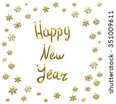 2016 happy new year gold card ... | Shutterstock .eps vector #351009611