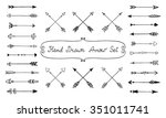 vintage hand drawn arrow set.... | Shutterstock .eps vector #351011741