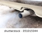 combustion fumes coming out of... | Shutterstock . vector #351015344