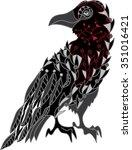 Decorative Ornamental Raven...