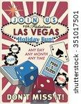 vegas holiday flyer | Shutterstock .eps vector #351017501