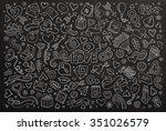 chalkboard vector hand drawn... | Shutterstock .eps vector #351026579
