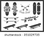 Vector Set Of Skateboard...