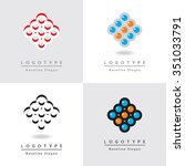 abstract graphic icons of...