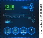 icons set weapons for the game...   Shutterstock .eps vector #351040904