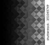 black grid mosaic background ... | Shutterstock .eps vector #351045749