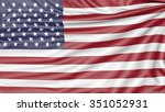 flag of the united states of...   Shutterstock . vector #351052931