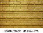 Golden Brick Wall For Text And...