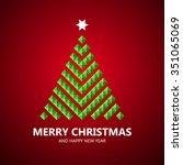 stylized christmas tree... | Shutterstock .eps vector #351065069