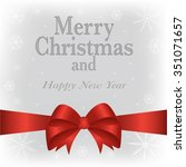 merry christmas and happy new... | Shutterstock .eps vector #351071657