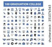 graduation  college  education  ... | Shutterstock .eps vector #351076565
