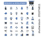 research  development  plan ... | Shutterstock .eps vector #351076811