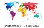 political map of the world | Shutterstock .eps vector #351089861