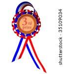 third prize medal | Shutterstock . vector #35109034