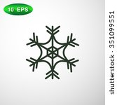 snowflake icon | Shutterstock .eps vector #351099551