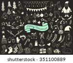hand draw collection of... | Shutterstock .eps vector #351100889