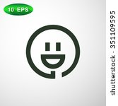 smiley and plug. vector icon | Shutterstock .eps vector #351109595