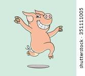 Pink Pig Cartoon