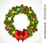 abstract beauty christmas and... | Shutterstock .eps vector #351112211
