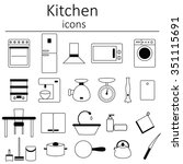 icons from the kitchen.... | Shutterstock .eps vector #351115691