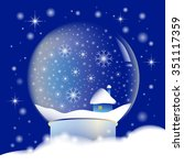 snow globe with night... | Shutterstock .eps vector #351117359