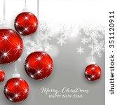 christmas wreath with fir branch | Shutterstock .eps vector #351120911