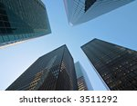 modern tall buildings seen from ... | Shutterstock . vector #3511292