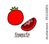 tomato. isolated with the... | Shutterstock .eps vector #351132851