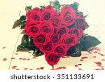 romantic still life with... | Shutterstock . vector #351133691