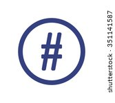 hashtag icon  vector... | Shutterstock .eps vector #351141587