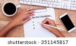 new years resolution list... | Shutterstock . vector #351145817