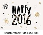 typographic design vintage... | Shutterstock .eps vector #351151481
