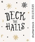 typographic style christmas... | Shutterstock .eps vector #351151535