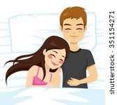 top view illustration of couple ...   Shutterstock .eps vector #351154271