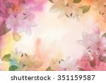 Flower Watercolor Background....