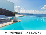 pool amid a beautiful maritime... | Shutterstock . vector #351164759