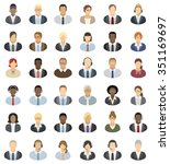 business people icons   set of... | Shutterstock .eps vector #351169697