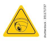 video surveillance sign. cctv... | Shutterstock .eps vector #351171737